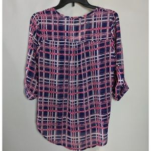 Papermoon Tops - Papermoon by Stitch Fix Pink & Blue Plaid Top NWT